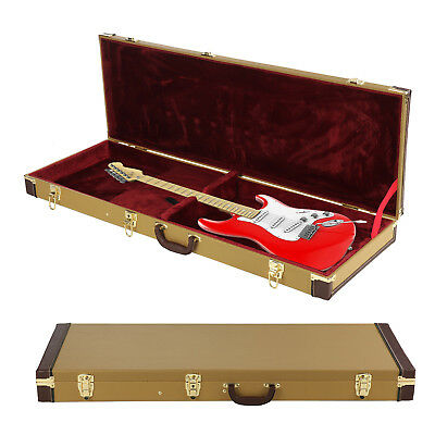 gold electric guitar case protective flight guitar hard case lockable carry bag 711005729307 ebay. Black Bedroom Furniture Sets. Home Design Ideas