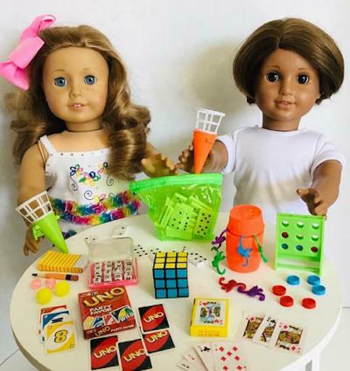 """Ramdon 2 Pcs game Accessories Fit For 18/"""" American Girl dolls Toys 90/%New #K17"""