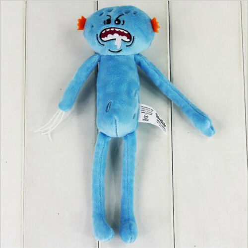 """New Mr Meeseeks Rick and Morty Happy Sad drool 10/"""" Plush Dolls Toy Gifts"""