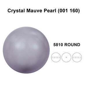 CRYSTAL-MAUVE-PEARL-001-160-Genuine-Swarovski-5810-Round-All-Sizes
