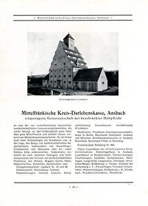 Kreis-Darhlehenskasse-Ansbach-XL-Reklame-1927-Mittelfranken-Bank-Lagerhaus-Bank