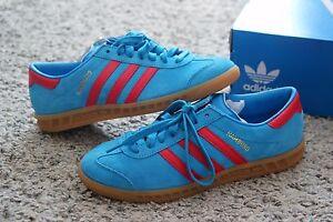 design de qualité 6bbcb a85a6 Details about Adidas Originals Hamburg Blue Red Rouge Gum 6 US - 38 2/3 - 5  1/2 UK Sneakers