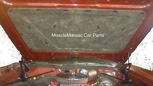 Hood Insulation Pad Flat Fiberglass for 1970-72 Chevrolet Monte Carlo w//Clips