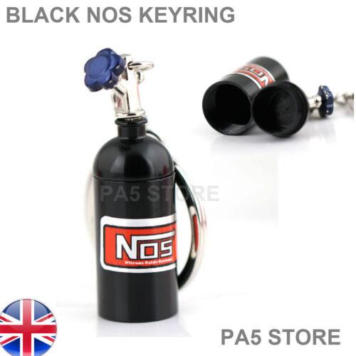 BLACK NOS NITROUS OXIDE  KEYRING KEY CHAIN STASH BOX HIGH QUALITY UK POST