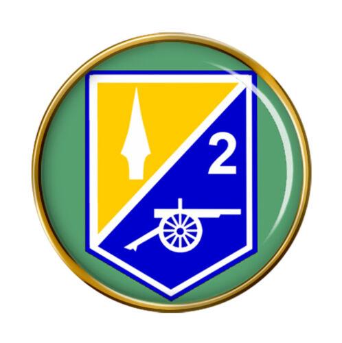 2 Regimiento de Artillería de Campo de las Fuerzas de Defensa irlandesas Pin Insignia