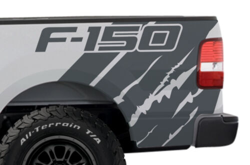 Custom Vinyl Graphics Decal Wrap Kit Ford Truck F-150 2004-08 F-150 QUARTER Gray