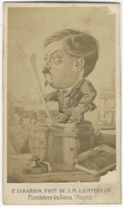 Photo-Giradin-Plombieres-les-Bains-Vosges-Cdv-Albumine-Caricature-Vers-1860