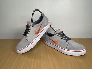Nike-SB-WOMEN-039-S-GRIGIO-ARANCIO-Scarpe-da-Ginnastica-in-Pelle-Scamosciata-Misura-UK-5-5-EUR-38-5