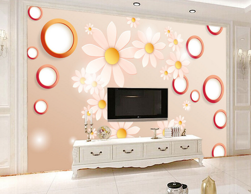 3D Romance Daisies 89 Wall Paper Murals Wall Print Wall Wallpaper Mural AU Kyra
