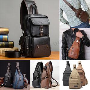 Men-Chest-Sling-Pack-Satchel-Shoulder-Crossbody-Travel-Bag-Purse-Backpack