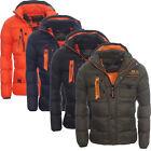 Geographical Norway warme gefütterte Herren Winterjacke Winter Outdoor Jacke WOW