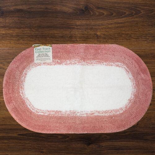 20 x 34 Durable Bathroom Oval Rug Color Choices Microfiber Non-Slip Bath Mat