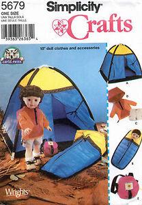 Simplicité Poupée Vêtements et Accessoires Motif 5679 Taille 45.7cm non Coupé SwrtmXul-09105429-793930736