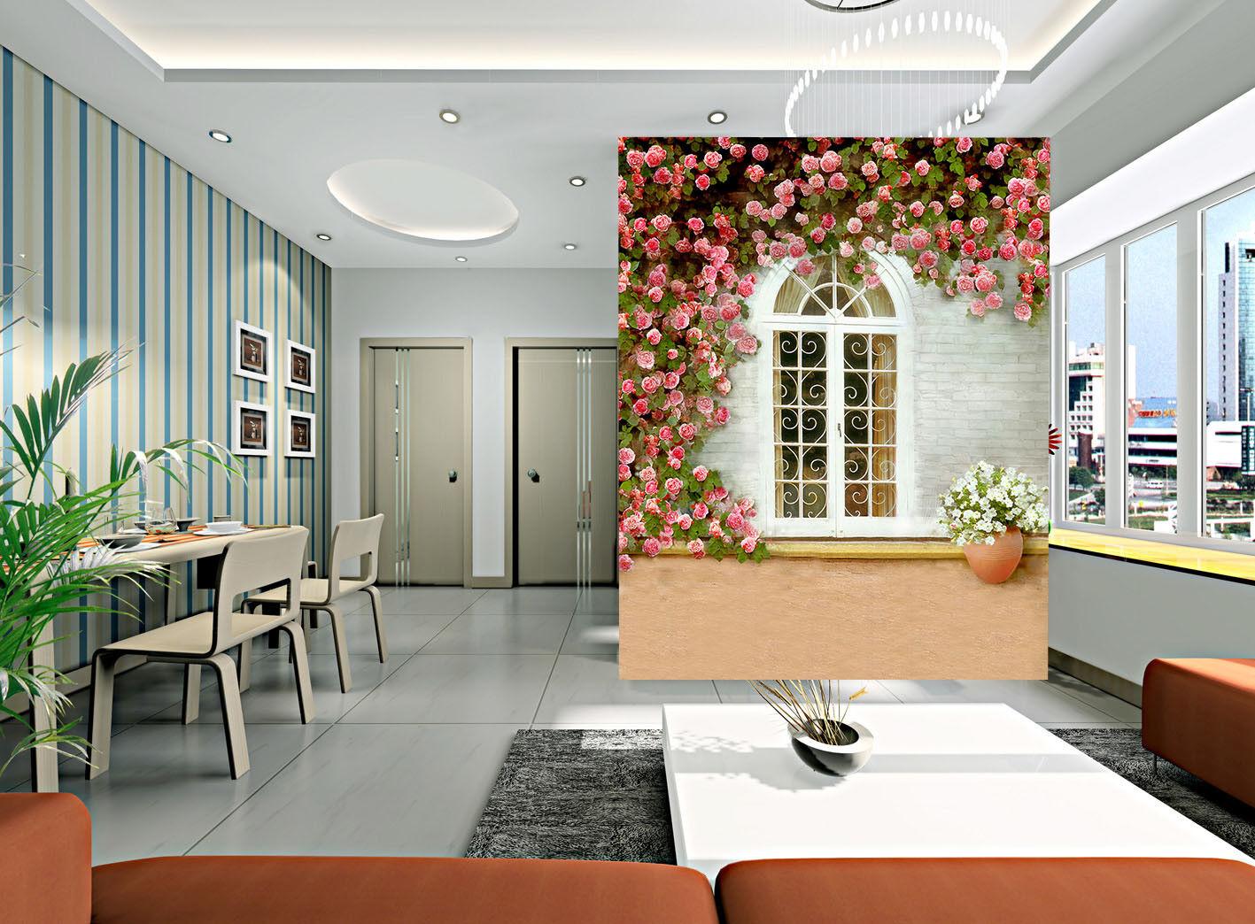 3D Rosa Rosa Fenster Fenster Fenster 89 Tapete Wandgemälde Tapete Tapeten Bild Familie DE Summer | Stil  | Up-to-date-styling  | Fierce Kaufen  88c4e3