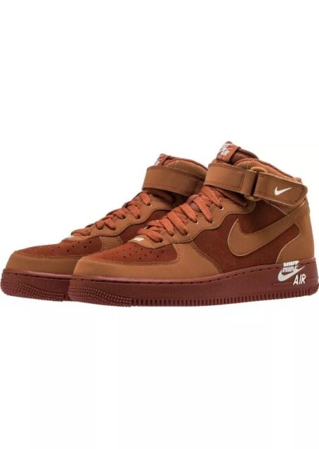 Nike Air Force 1 Mid '07 Dark Russet Mens Size 9.5 Low High 315123 207