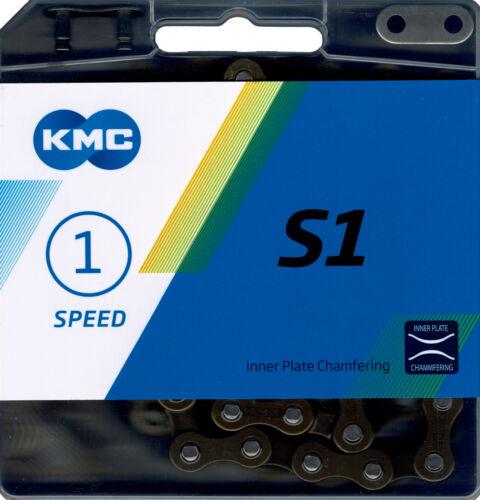 KMC S1 Kette 1 fach Fahrradkette für Eingang Fixie Nabenschaltung 1//2x1//8