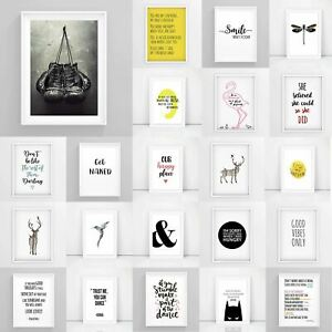 Inspirational-Prints-Motivational-Posters-Funny-Framed-Wall-Art-Quote-A3-A4-A5