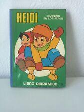 1976 Libro Dioramico Pop-Up, Heidi Invierno en los Alpes 3, Editorial Roma