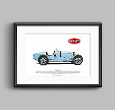 Bugatti Type 35B ART POSTER A3 size