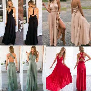 Convertible-Multi-Way-Bridesmaid-Dress-Infinity-Wear-Prom-Long-Party-Dresses-AU