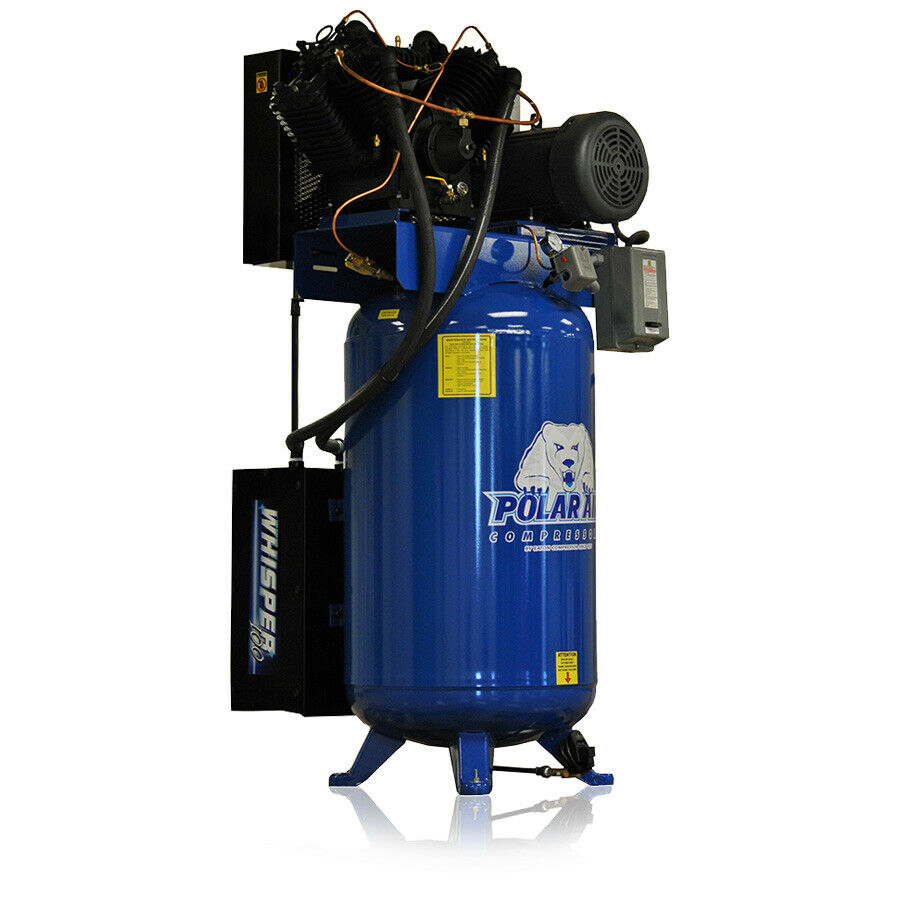 7.5 HP Quiet 3 Phase 230V 80 Gallon Tank greenical Air Compressor