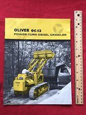Neat Old Original 1958 Oliver Oc 12 Power Turn Diesel Crawler Sales Brochure