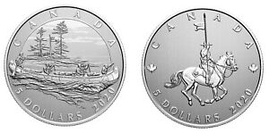Canada-Pure-Silver-5-dollars-coin-Hudson-039-s-Bay-amp-National-Police-2020
