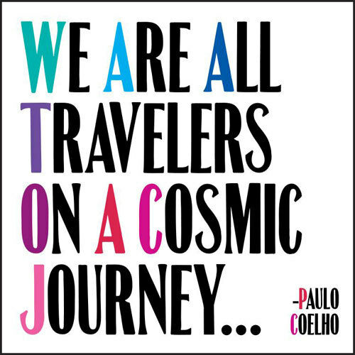 Quotable Greeting Card QC-C-D303 WE ARE ALL TRAVELERS