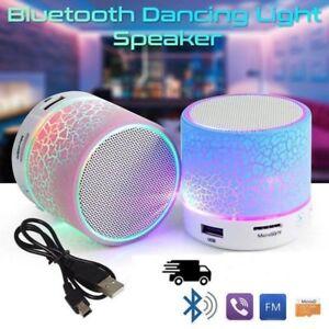 Luminous Lights Rechargeable Wireless Bluetooth Speaker Portable