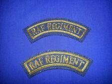 RAF Regiment No 5 dress gold bullion mudguards set of two