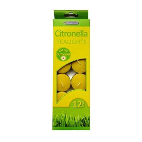 Citronella Tealights 12pk NEW