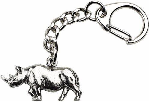 Rhino Keyring Quality Made Pewter