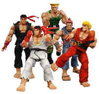 NECA Street Fighter IV 7 Inch Action Figure Ken Ryu Akuma Guile With Extra Hands