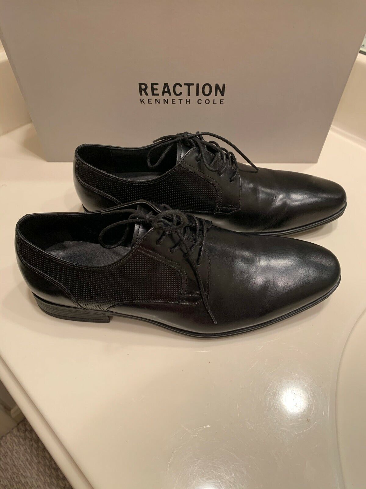 NWT MSRP REACTION KENNETH COLE MIN OXFORD BLACK MENS LACE UPS SIZE 9M,