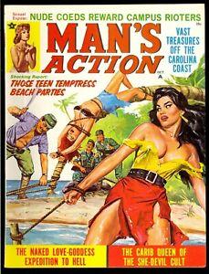 Man-039-s-Action-Pulp-Magazine-Vol-8-8-Oct-1969-Bondage-Very-Fine-8-0