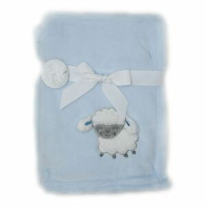 Hugs-amp-Kisses-Baby-Embroidered-3D-Blanket-Sheep-Blue-Sherpa-Fleece-75x100cm