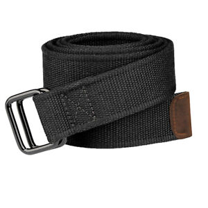 Drizzte-Boys-Extra-Long-100-to-190cm-Double-D-Ring-Canvas-Black-Cloth-Belts-Mens