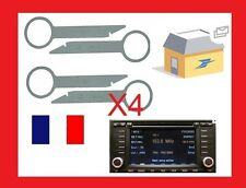 4 Clés clef extraction radio car démontage VW touareg RNS2  modele 2