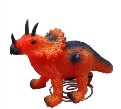 Eva Nite Lite Childrens Bedroom Nursery Night Light Orange Dinosaur Lamp