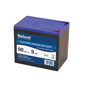 9 Volt Electric Fencer Battery 90Ah Rutland British Company High Quality