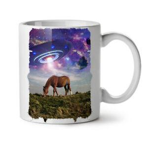 Horse Mars Space Animal NEW White Tea Coffee Mug 11 oz | Wellcoda