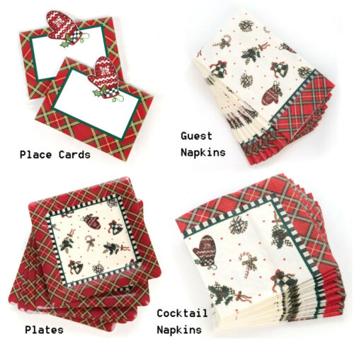 Napkins Paper Plates MacKenzie-Childs Courtly Noel Paper Products Place Cards