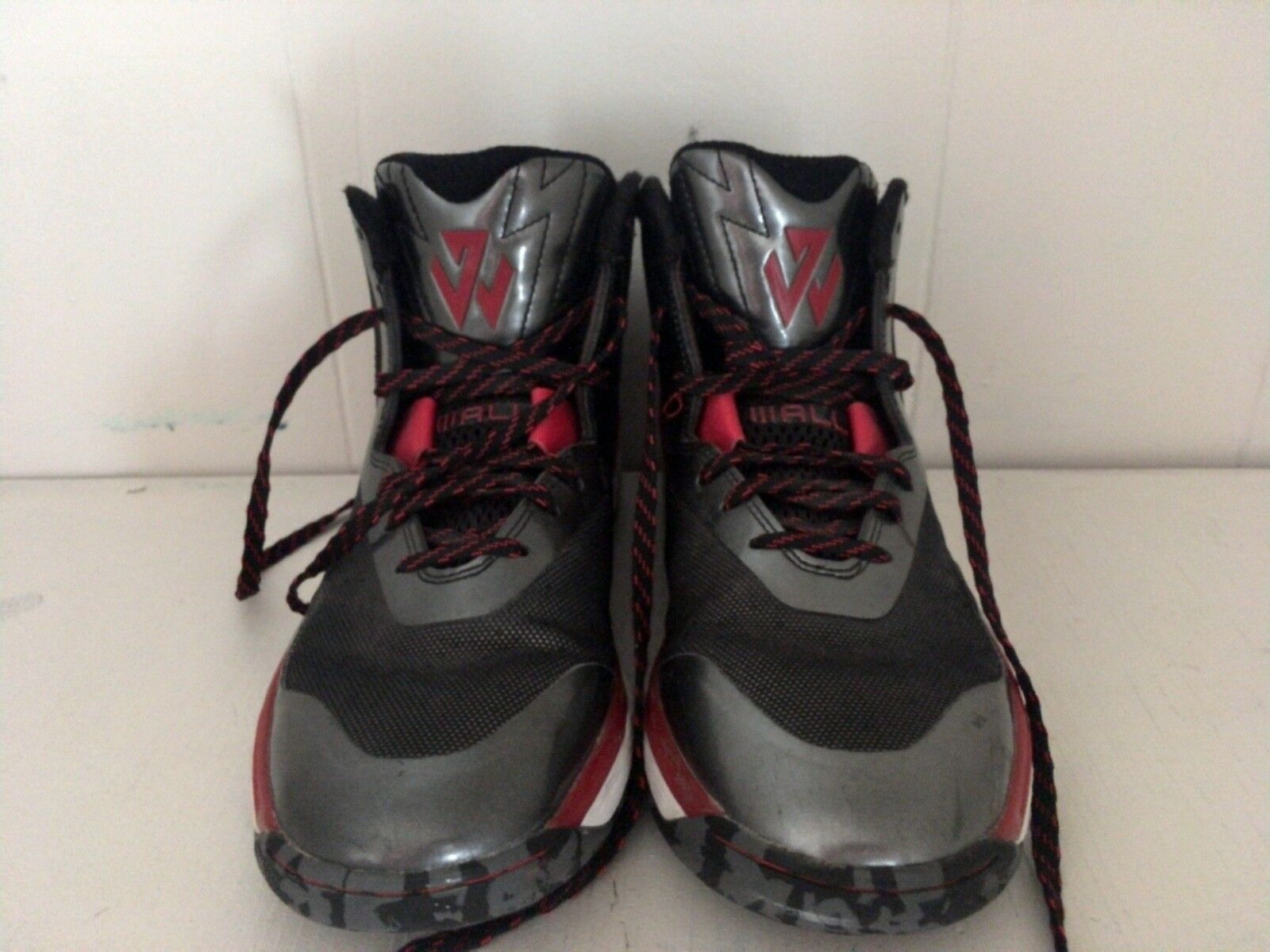 Men's Adidas basketball shoes , John Wall, size 8, black, red and white