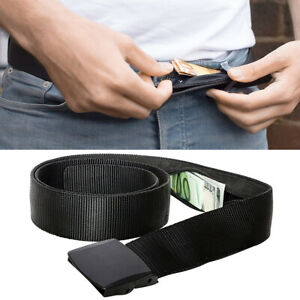 46c85b98c485 Details about Travel Security Belt Hidden Money Pouch Money Wallet Pocket  Waist Belt Safe