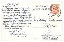 NEDERLAND S.M.N. 1921-4-31   PPC   = M.S. JOHAN DE WITT =  EGYPT  VF