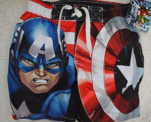 NWT Boys swimming trunks sizes 4//5 Marvel Captain America Spiderman 8 10-12