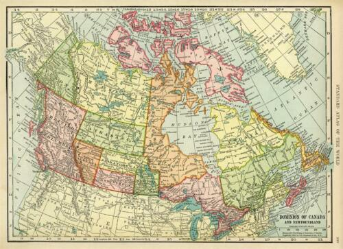 """Historical Map of Canada Vintage Image Fabric Art Decor Poster 40x29/"""""""