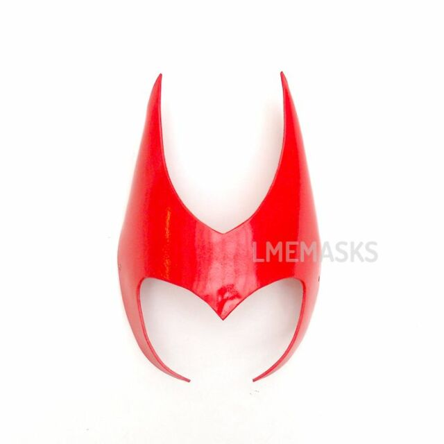 Scarlet Witch Leather Headdress Crown Red Halloween Cosplay Heroine Satan Comic