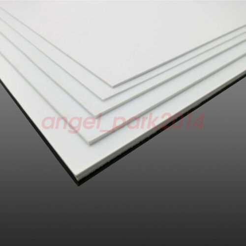 1Pcs ABS Styrene Plastic Sheet Plate White Smooth Thickness:1 1.5 2 3 4 5mm