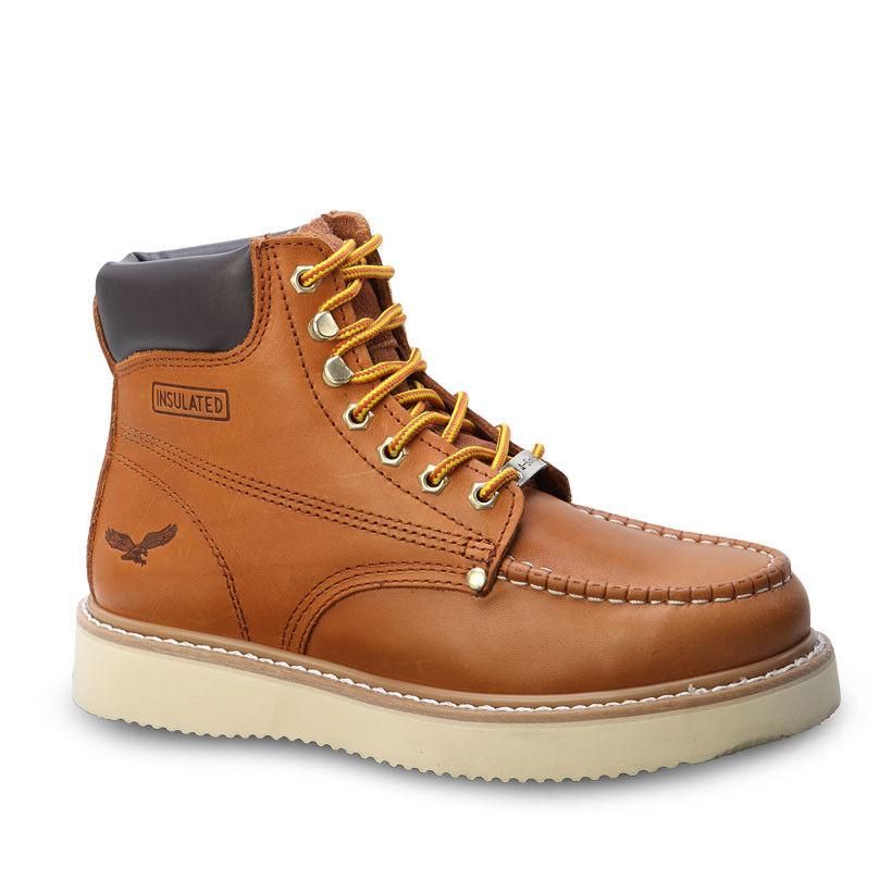 Para hombres Cuero Puntera De Cali oro 6  Mocc BONANZA 650 WP botas De Trabajo (D, M)